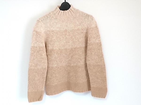 ジユウク 長袖セーター サイズ40 M レディース ベージュ×ライトブラウン