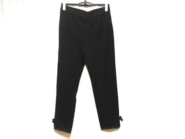 Leilian(レリアン) パンツ サイズ13 L レディース美品  黒 リボン/ウエストゴム