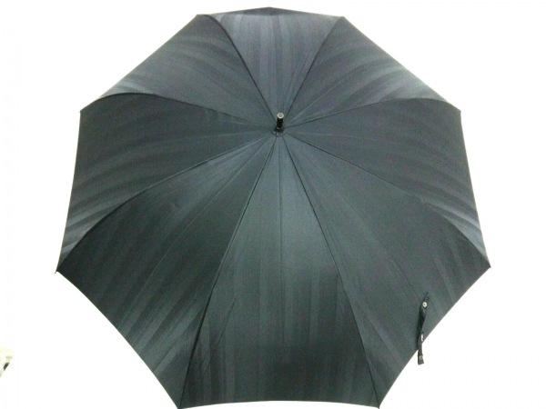 RYKIEL HOMME(リキエルオム) 傘 黒×ブラウン 化学繊維×ウッド×金属素材