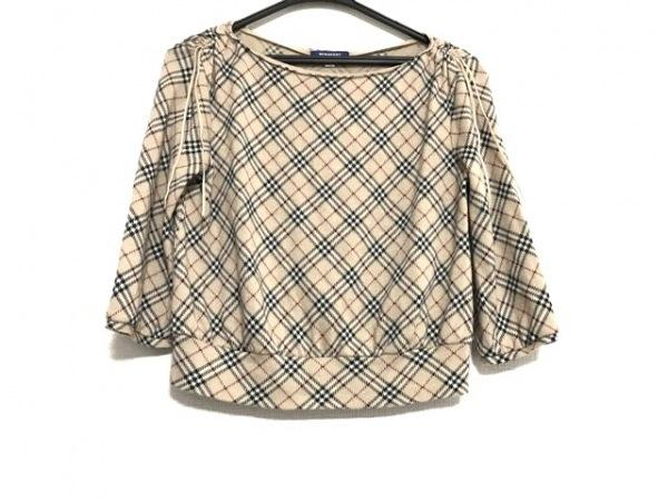バーバリーブルーレーベル 七分袖セーター サイズM レディース美品  チェック柄