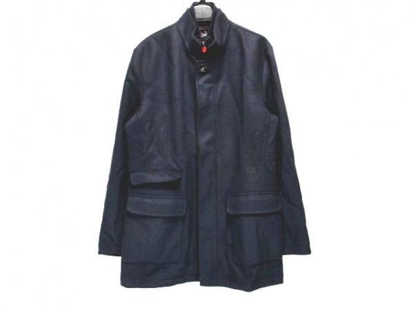 Kiton(キートン) コート サイズ46 XL メンズ ネイビー×ダークブラウン