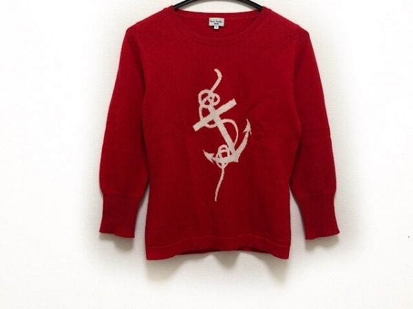 ポールスミス  ブルー 長袖セーター サイズS レディース新品同様  レッド×白