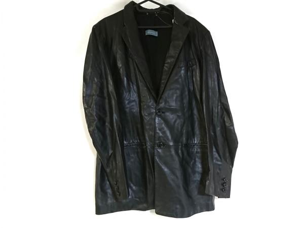 RUFFO(ルッフォ) コート サイズ  メンズ美品  黒 冬物/レザー