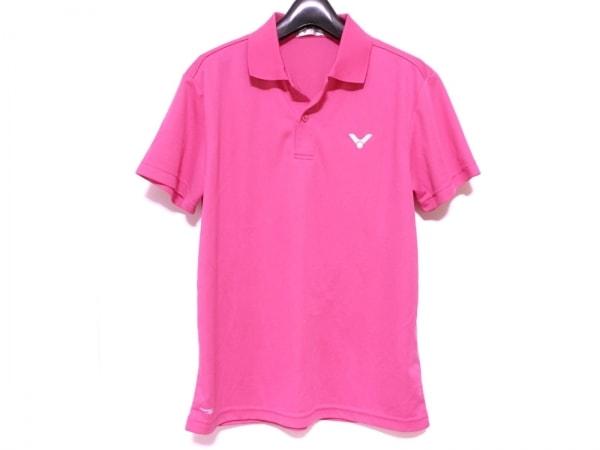 VICTOR(ビクター) 半袖ポロシャツ メンズ美品  ピンク
