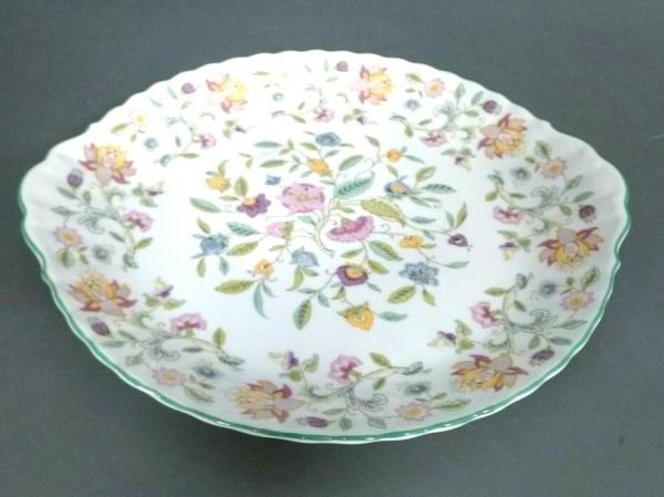 MINTON(ミントン) プレート新品同様  白×ライトグリーン×マルチ 花柄 陶器
