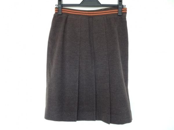 パーリーゲイツ スカート サイズ1 S レディース美品  ダークブラウン×オレンジ