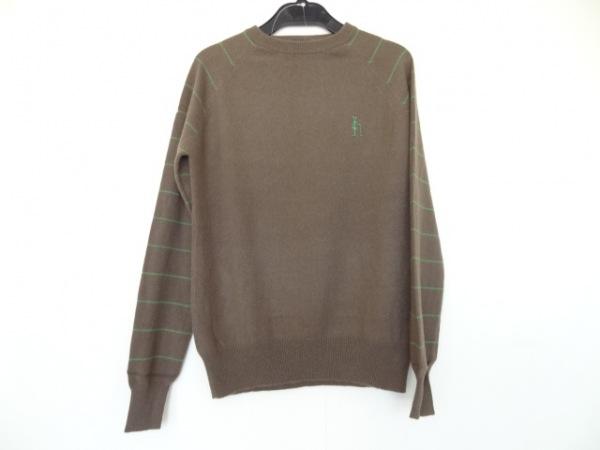 パーリーゲイツ 長袖セーター サイズ1 S レディース ブラウン×グリーン