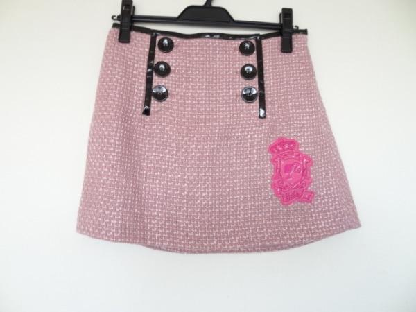パーリーゲイツ スカート サイズ0 XS レディース ピンク×黒 Barbie Golf