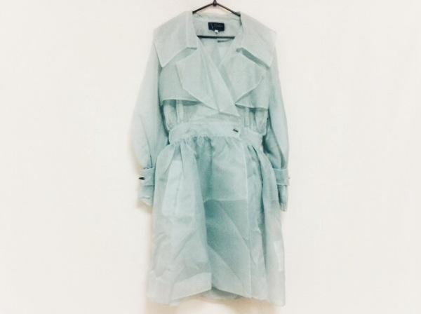 モンタナ コート サイズ9 M レディース美品  ライトブルー シースルー/春・秋物