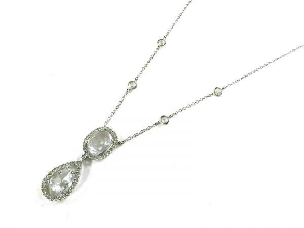 ABISTE(アビステ) ネックレス美品  金属素材×ラインストーン シルバー×クリア