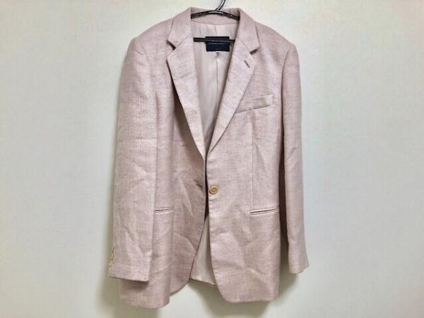 ジョルジオアルマーニクラシコ ジャケット サイズ46 XL レディース ピンク×パープル