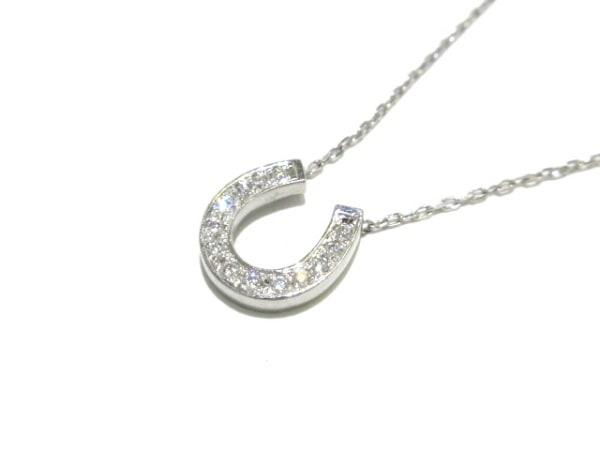 ヴァンドーム青山 ネックレス美品  Pt900×Pt850×ダイヤモンド 馬蹄モチーフ
