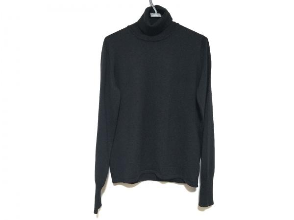 アルマーニコレッツォーニ 長袖セーター サイズ50 M メンズ美品  黒 タートルネック