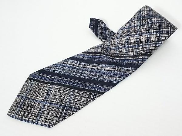 Cartier(カルティエ) ネクタイ メンズ 白×黒×ブルー