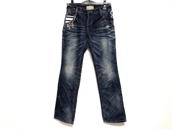 ロリータジーンズ ジーンズ サイズS レディース ブルー×マルチ ダメージ加工/刺繍