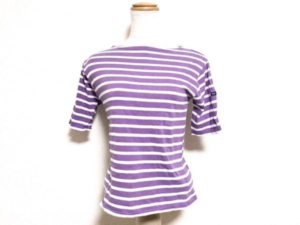 セントジェームス 半袖Tシャツ サイズ0 XS レディース パープル×白 ボーダー