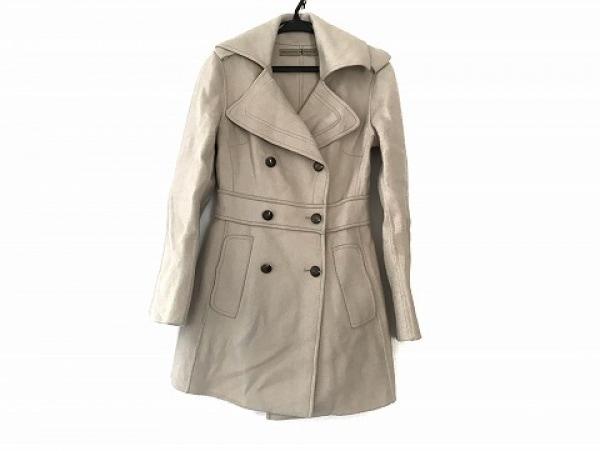 エルマノシェルビーノ コート サイズ38 M レディース美品  ベージュ 冬物