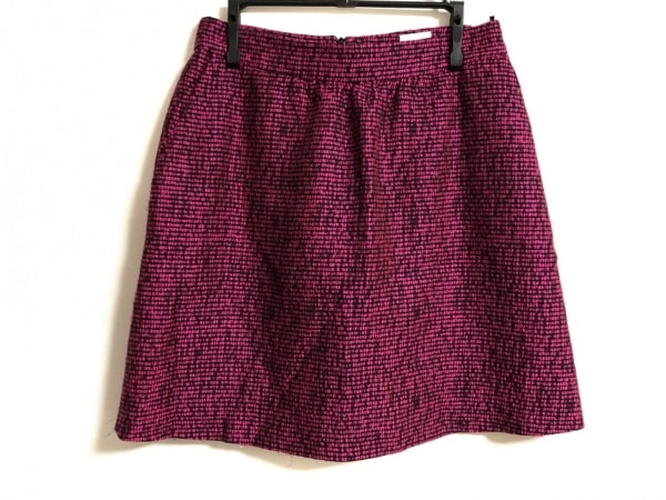 REO VALENTINO(レオ バレンチノ) スカート サイズ38 M レディース美品  ピンク×黒