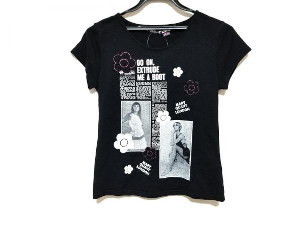 MARY QUANT(マリークワント) 半袖Tシャツ サイズM レディース美品  黒×白×ピンク
