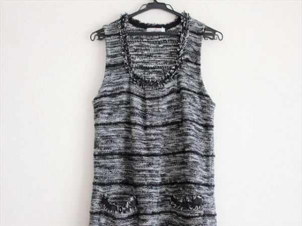 ギャラリービスコンティ ワンピース サイズ2 M レディース美品  黒×白 ラメ