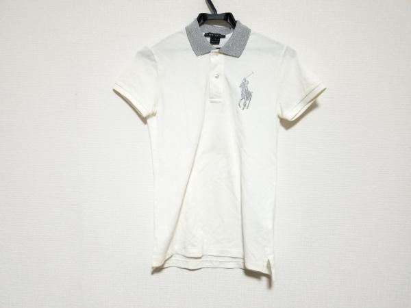 ラルフローレン 半袖ポロシャツ サイズS メンズ ビッグポニー アイボリー×シルバー