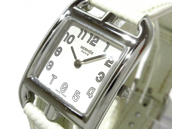 HERMES(エルメス) 腕時計美品  ケープコッド ダブルトゥール CC1.210 レディース 白