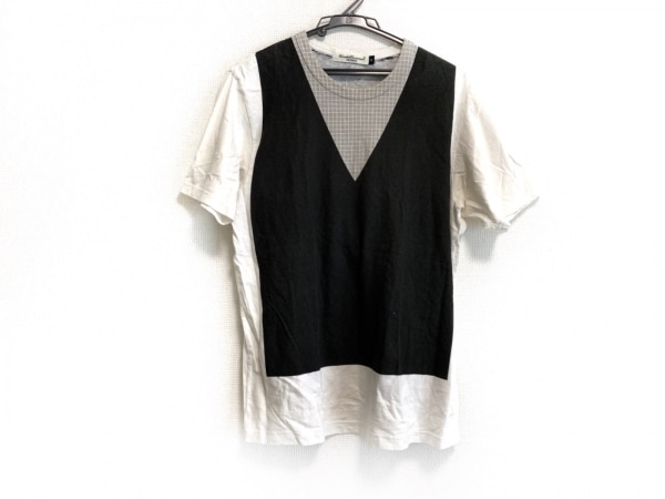 アンダーカバイズム 半袖Tシャツ サイズ2 M メンズ 黒×白×ライトグレー