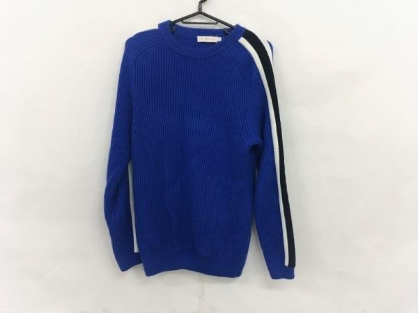 トリーバーチ 長袖セーター サイズS レディース美品  ブルー×アイボリー×黒