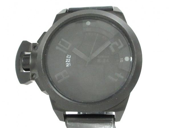 WELDER(ウェルダー) 腕時計 エレクトロメカニコ K-24 メンズ ラバーベルト 黒