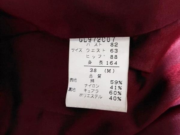 ジリ コート サイズ38 M レディース美品  ボルドー×ダークブラウン 4