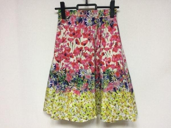 TOCCA(トッカ) スカート サイズO レディース新品同様  レッド×イエロー×マルチ 花柄