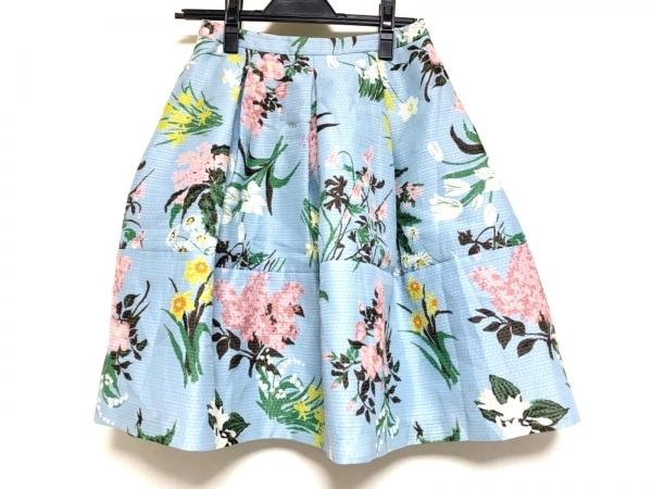 TOCCA(トッカ) スカート サイズ0 XS レディース ライトブルー×ピンク×マルチ 花柄
