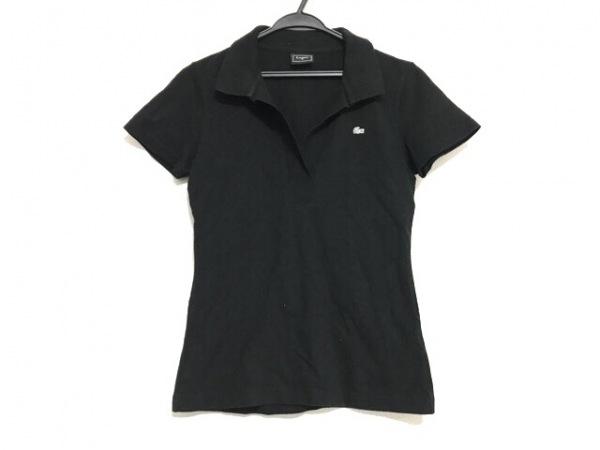 Lacoste(ラコステ) 半袖ポロシャツ サイズ42 L レディース美品  黒