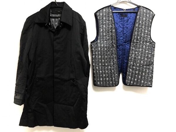 JUN MEN(ジュンメン) コート サイズL メンズ美品  黒 冬物/ライナー取り外し可