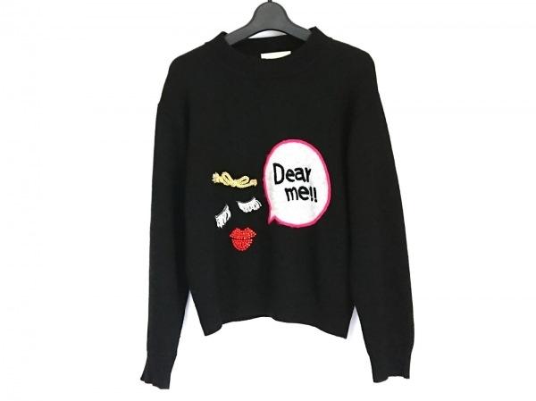 チェスティ 長袖セーター サイズF レディース 黒×マルチ 刺繍/ラインストーン