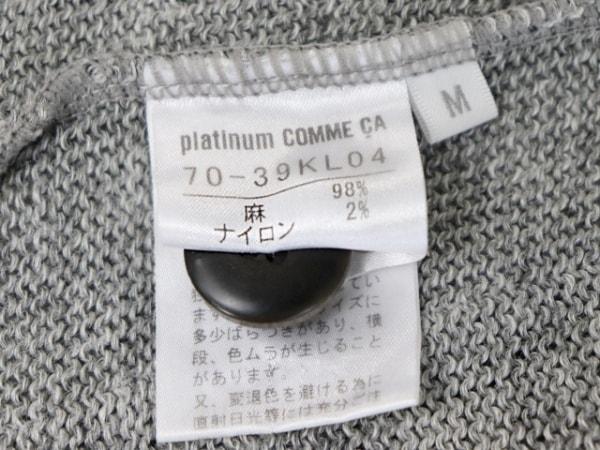 Platinum COMME CA(プラチナコムサ) コート サイズM レディース グレー 春・秋物
