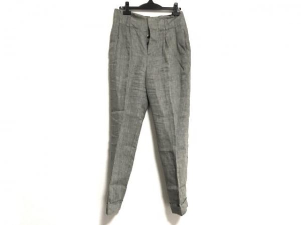 MargaretHowell(マーガレットハウエル) パンツ サイズ2 M メンズ 黒×ライトグレー