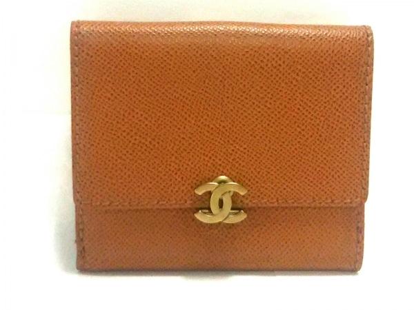 22da6ebf5d99 CHANEL(シャネル) 2つ折り財布 キャビアスキン ブラウン ココマーク キャビアスキン
