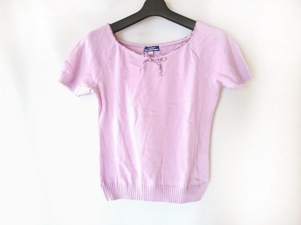 バーバリーブルーレーベル 半袖セーター サイズM レディース ピンク リボン
