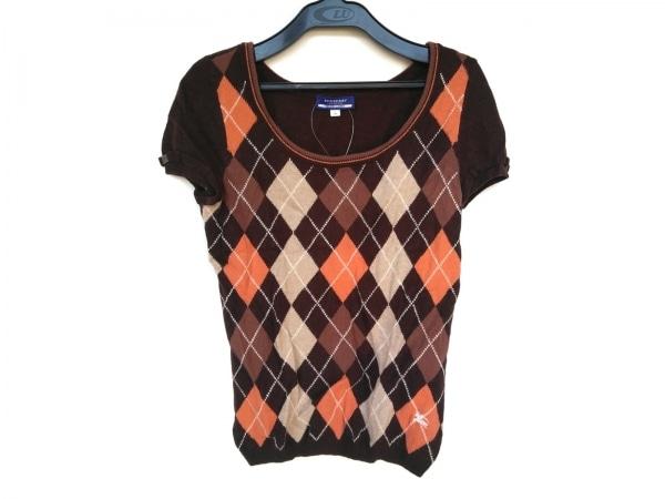 バーバリーブルーレーベル 半袖セーター サイズ38 M レディース美品