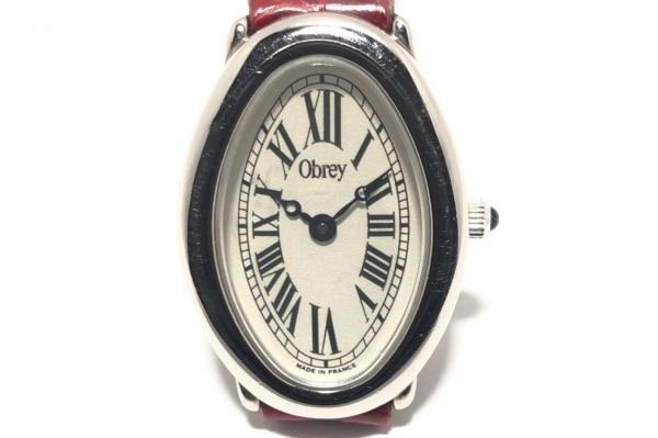 Obrey(オブレイ) 腕時計 - レディース 型押し加工 白