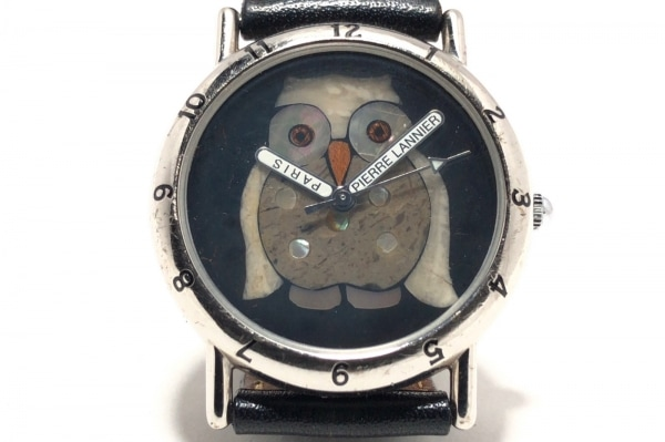 PierreLannier(ピエールラニエ) 腕時計 065.873 レディース 革ベルト 黒×マルチ