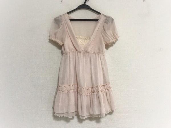 レストローズ ワンピース サイズ2 M レディース美品  ピンク フリル/シースルー