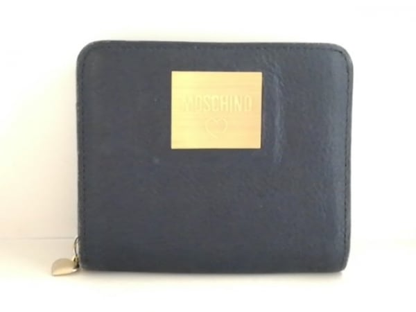 MOSCHINO(モスキーノ) 財布 ネイビー レザー