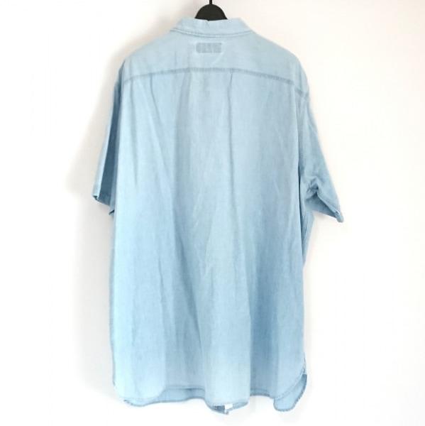 ポロラルフローレン 半袖シャツ サイズXXL XL メンズ ライトブルー デニム