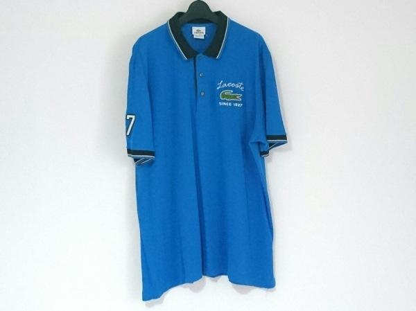 Lacoste(ラコステ) 半袖ポロシャツ サイズ8 メンズ ブルー×黒×白