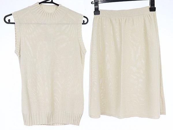 アンタイトル スカートセットアップ サイズ9 M レディース美品  ベージュ ニット