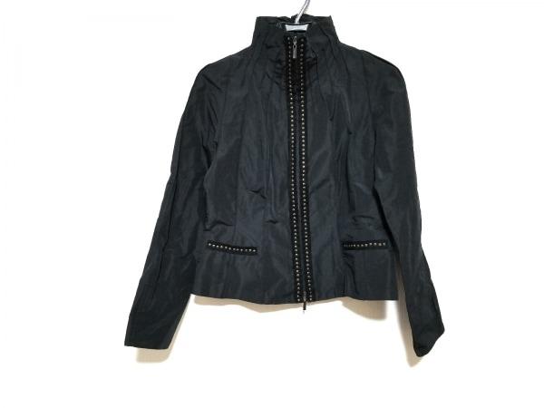 ヒロココシノ ジャケット サイズ40 M レディース美品  黒×ゴールド スタッズ