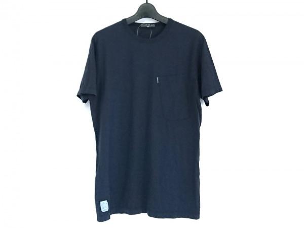STONE ISLAND(ストーンアイランド) 半袖Tシャツ サイズS メンズ ダークネイビー×白