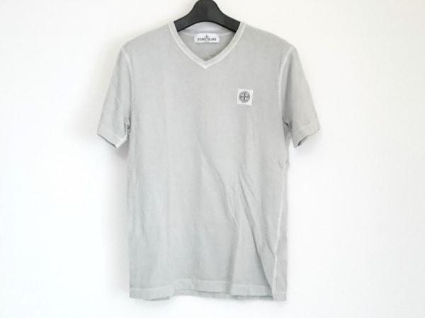 STONE ISLAND(ストーンアイランド) 半袖Tシャツ サイズS メンズ ライトグレー